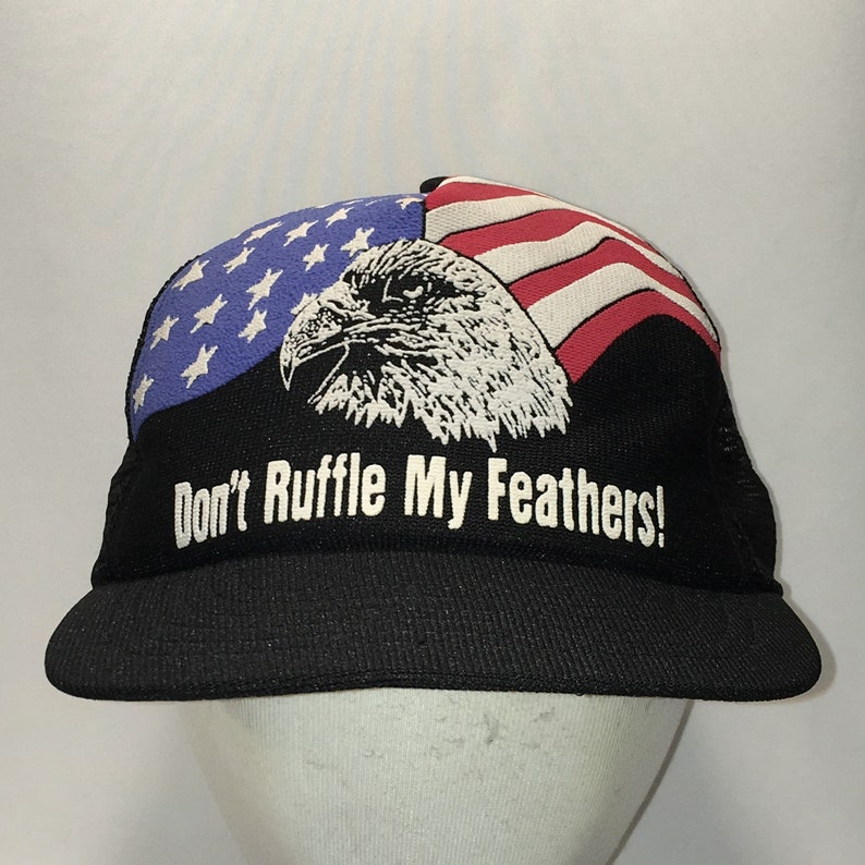 Vintage Snapback American Eagle US Flag Hat Patriotic Dad Cap Made In USA  Black White Blue Red Baseball Caps Hats For Men Gifts T110 D8009