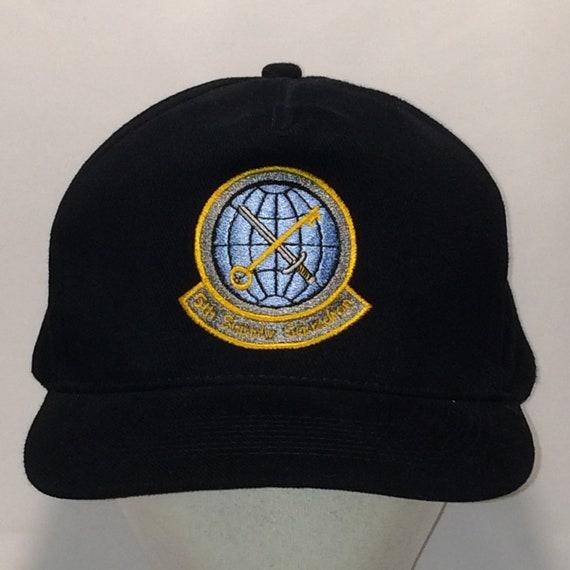 f0690f66add Vintage Strapback Baseball Cap Hat 5th Supply Squadron Ball
