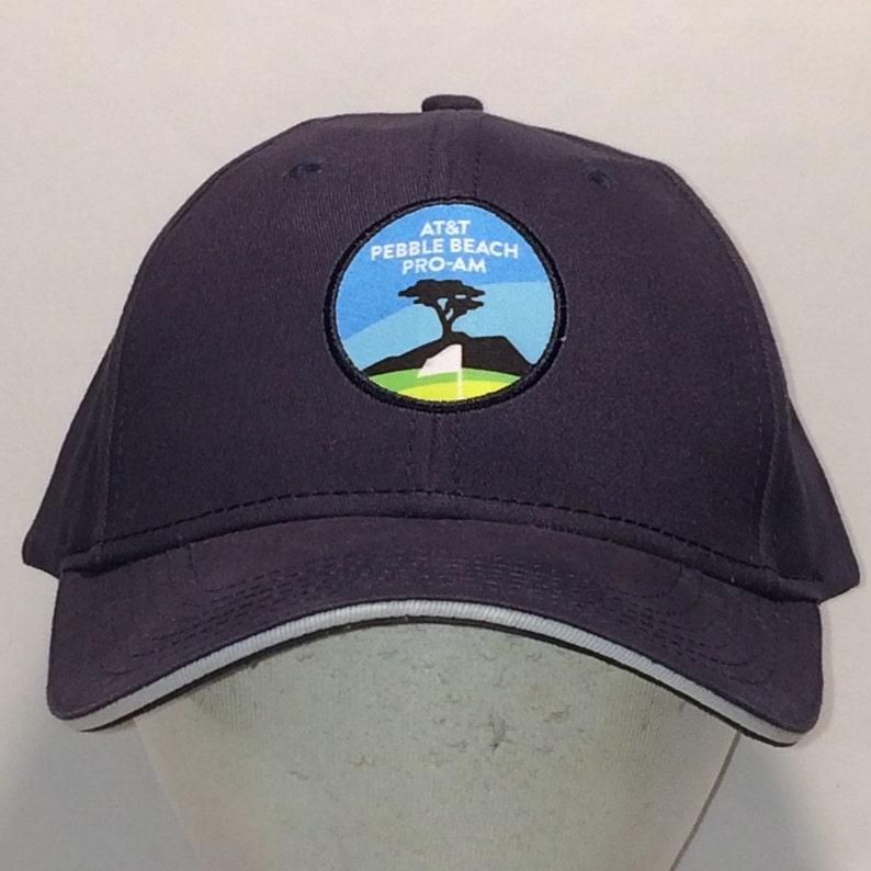 10968ef9989 Vintage Golf Hats For Men Baseball Cap ATT Pebble Beach Pro Am Strapback Hat  Navy Blue Cotton Ball ...
