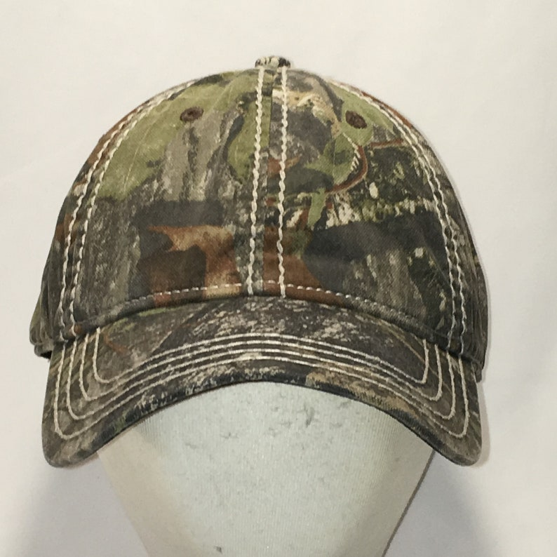 08d621515 Vtg 90s Plain Blank Hunting Hat Camouflage Camo Baseball Cap Medium Fitted  Hats For Men Unstructured Sports Fishing Hiking Caps T32 MA9078