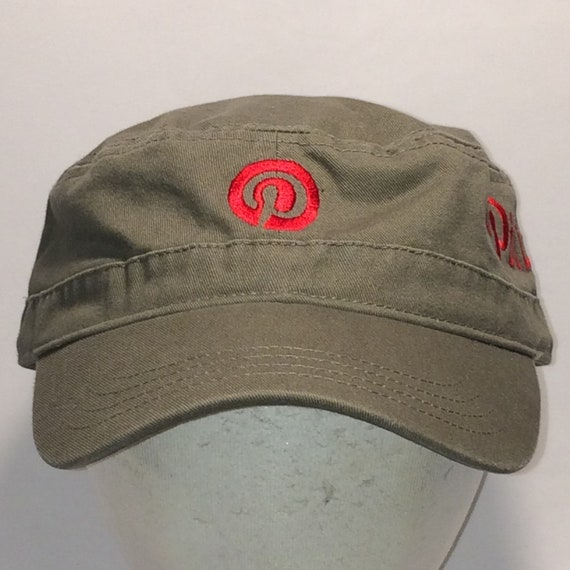 366f3af06fe Vintage Military Cadet Cap Hat Khaki Brown Red Hats For Men