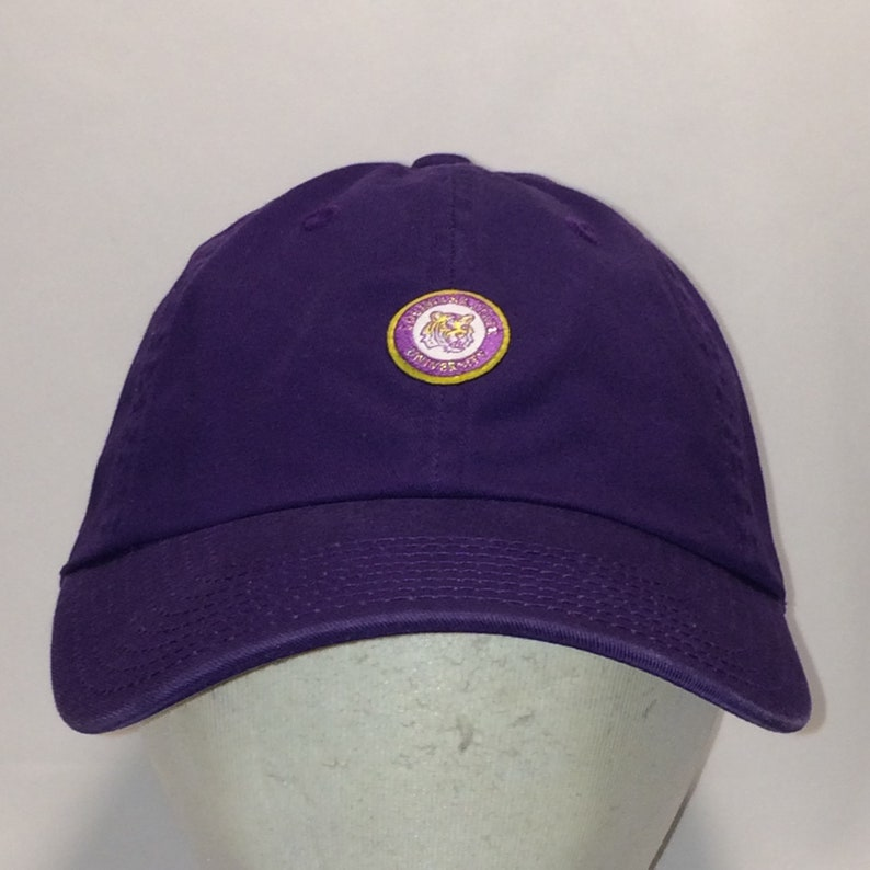 timeless design d51e9 fb50f Vintage LSU Tigers Hat Purple American Needle Strapback   Etsy