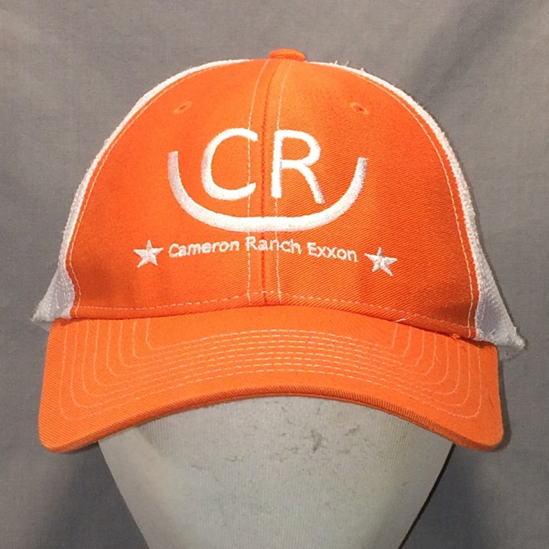 fc2f7298ef4 Vintage Trucker Hat Caps Snapback Hat Baseball Cap Orange
