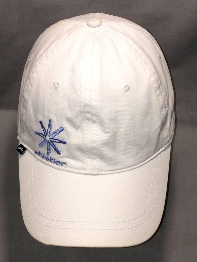 0c73c3ce3 Vintage Strapback Hat Vacation Ski Resort Baseball Cap Skiing Snowboarding  Sports Hats White Blue Whistler Blackcomb Ball Caps T108 F8091