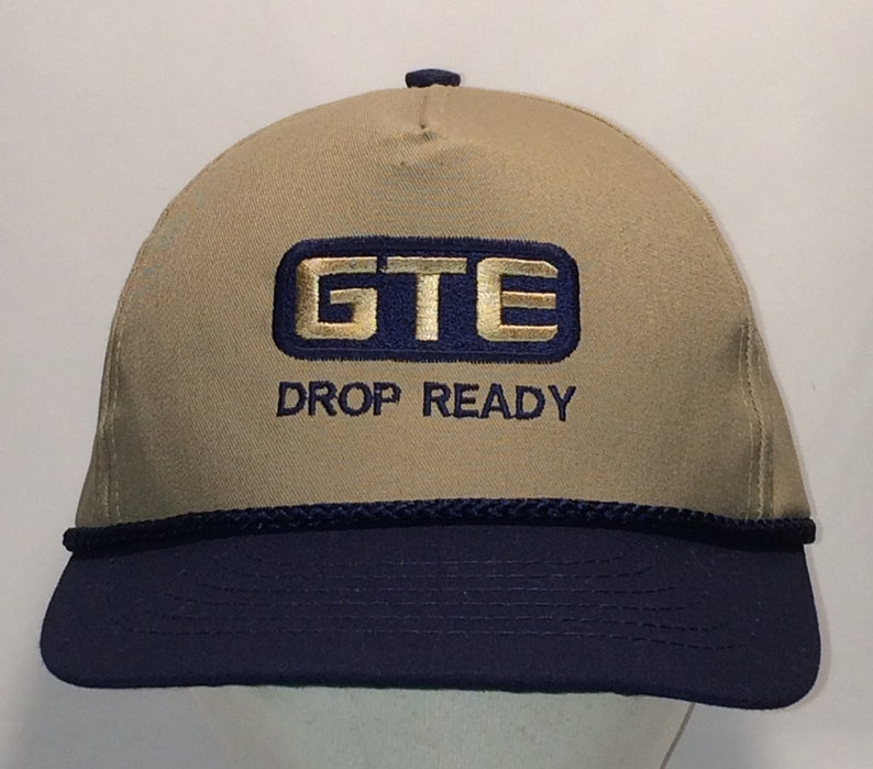 Vintage Snapback Hat Baseball Cap Made In USA Hats For Men GTE Drop Ready  Ball Cap Khaki/Beige Blue Dad Hat Fishing Hats T1 A8148