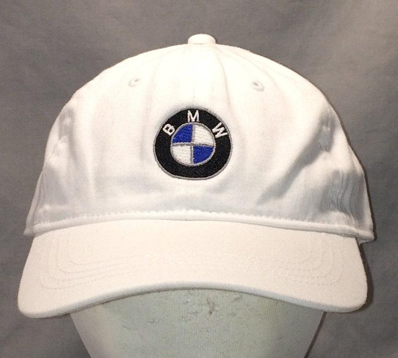 ee6dc39a886a1 Vintage BMW Strapback Hat Caps White Baseball Cap Hats For Men