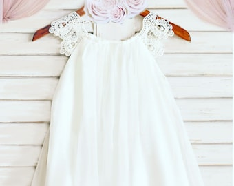 81828ba731f Ivory flower girl dress