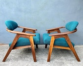 Pair of Adrian Pearsall 916-cc Lounge Chairs for Craft Associates - Professionally Refinished and New Upholstery READ FULL DESCRIPTION