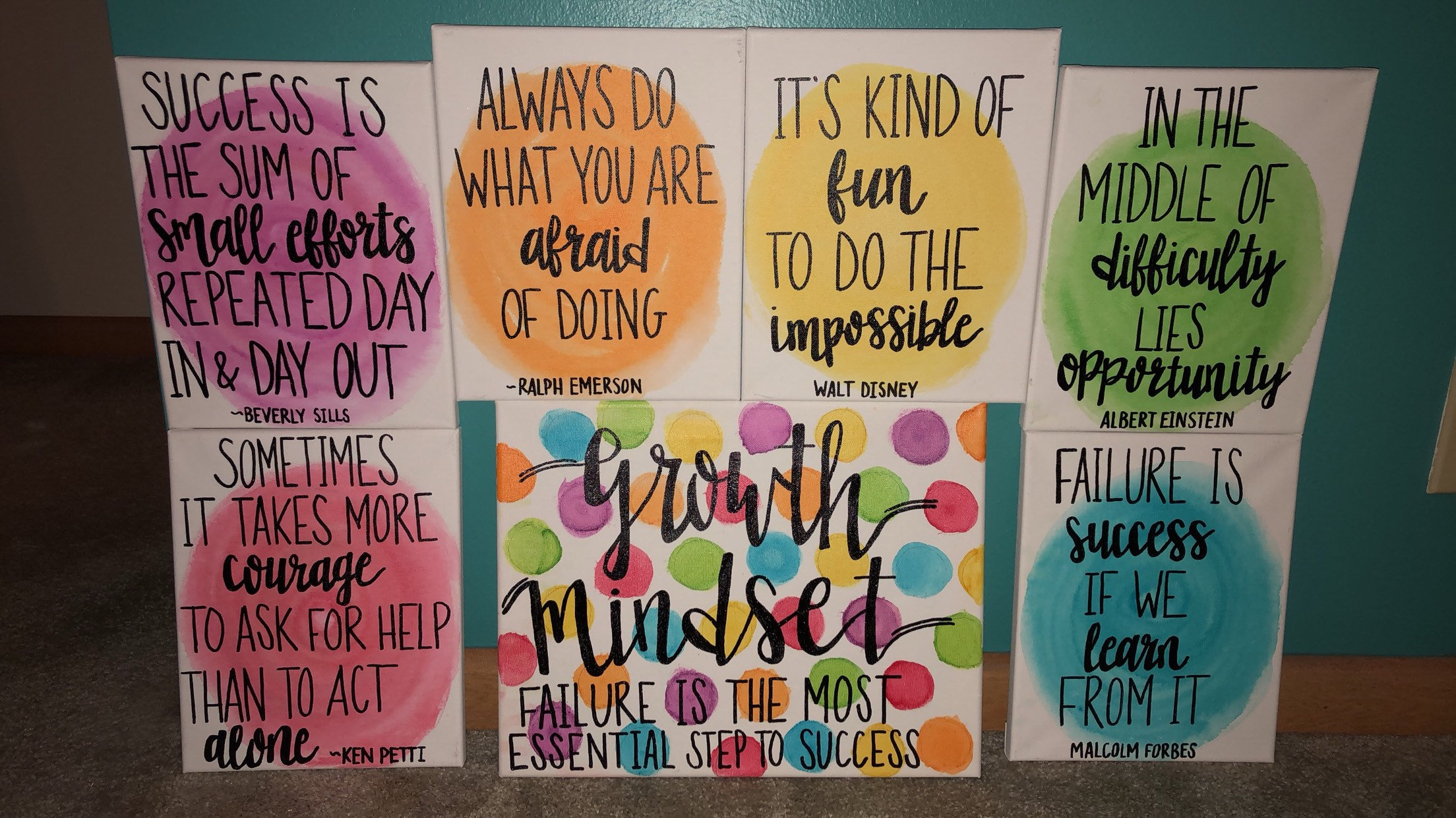 Growth Mindset Quotes Each Piece Sold Separately Or Can Be Etsy