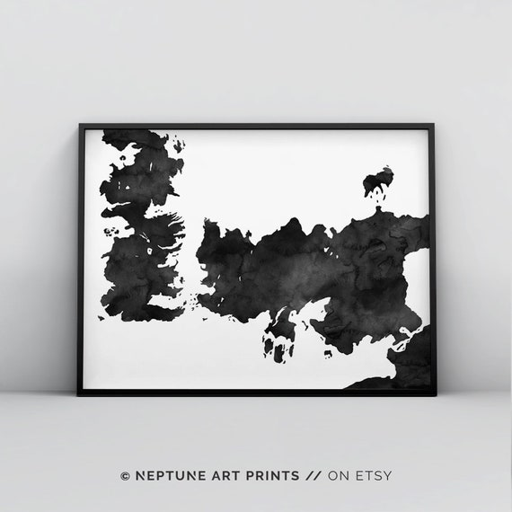 Game of Thrones Map A1 A2 A3 A4 A5 Art Print Poster