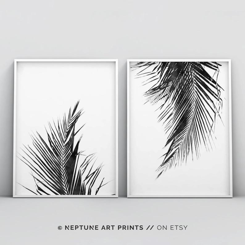 photograph regarding Palm Leaf Printable referred to as Palm Leaf Print, 2 Piece Palm Leaf Printable, Tropical Leaf, Zen Wall Print, Palm Leaf Artwork Print, Black and White Palm Leaf Print, Established of 2