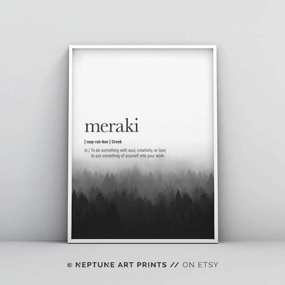 Meraki Definition Prints Greek Wall Art