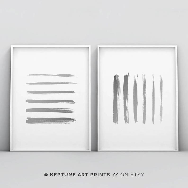 image regarding Etsy Printable Wall Art identified as Minimalist Line Artwork Printable Wall Artwork, Gray White Poster, Innovative, Summary Portray, Minimalism, Grey and White, Uncomplicated House Decor Electronic