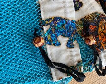 Green Black Yellow Purple Purse Tribal Borneo Pattern Style Beaded Purse Clutch with Wrist Strap Handmade Gift For Women Mom Gift Birthday