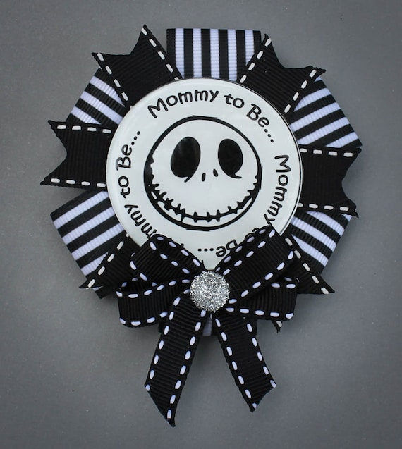 Nightmare Before Christmas Baby Shower Pin Mommy To Be Etsy