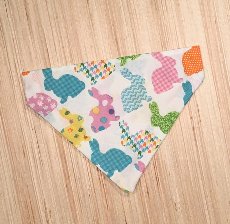 Spring Bunny Over the Collar Bandana  Easter Rabbit Scarf for Dog and Cat