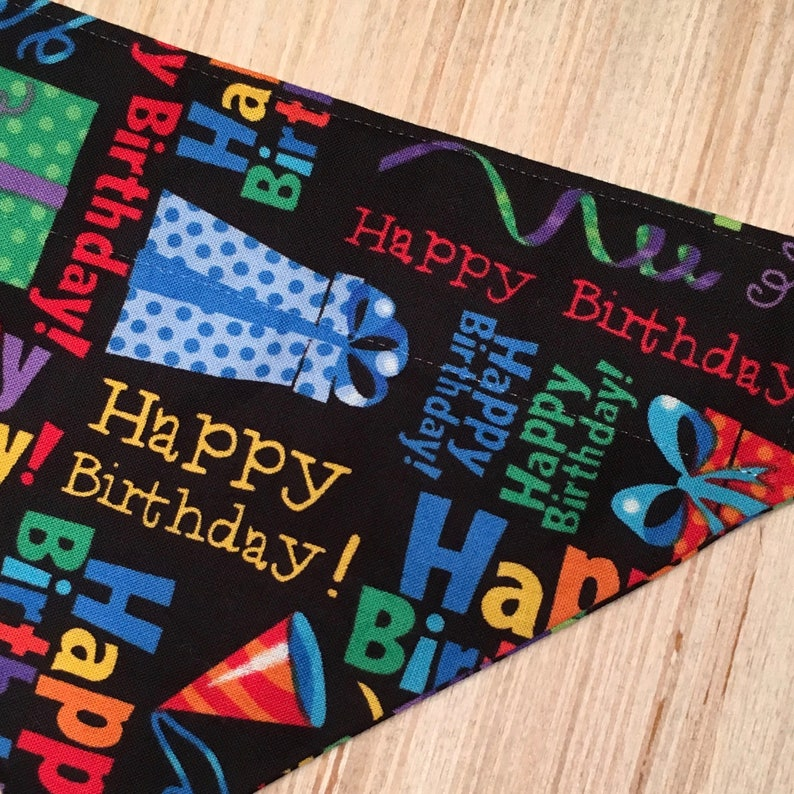Birthday Over the Collar Pet Bandana Party Cat and Dog Scarf