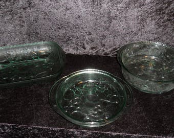 Madeira 3 Piece Ovenproof Cookware By Indiana Glass