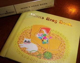 Vintage Old New in Original Box C.R. Gibson Yellow Mom's Brag Baby Book Photo Album  3 1/2 x 3/12 Prints Mint Rare