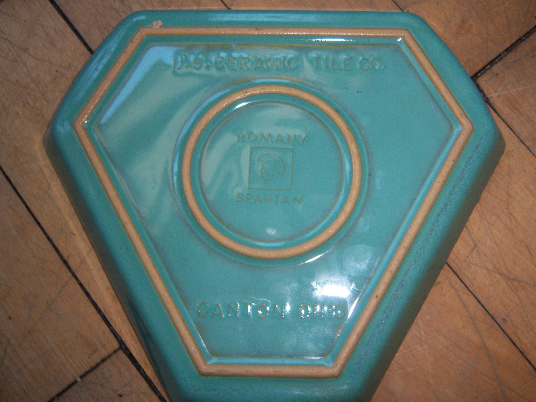 Vintage Us Ceramic Tile Company Romany Spartan Canton Ohio Etsy