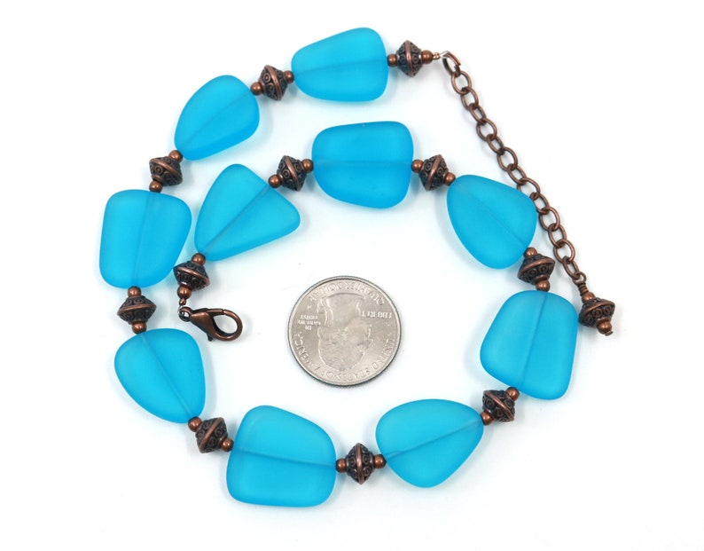 boot bling Blue boot anklet gift for her blue boot candy sea glass jewelry
