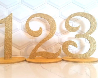Sparkly Table Numbers