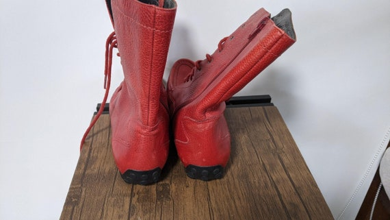 Vintage Red Boots 1990's and Denim sport Shoes Sn… - image 5