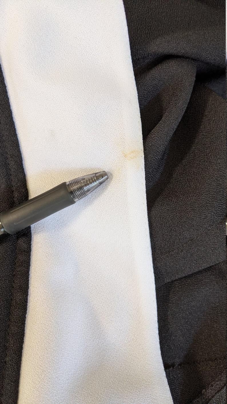 Vintage Black  Short Cocktail dress Plunging V back White collar Back Zipper Short Dolman sleeve Size 1314 Made in USA Polyester 1980/'s