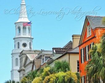 St. Michael's Church and Major Peter Bocquet Jr. House - Charleston, South Carolina (multiple sizes) PRINT