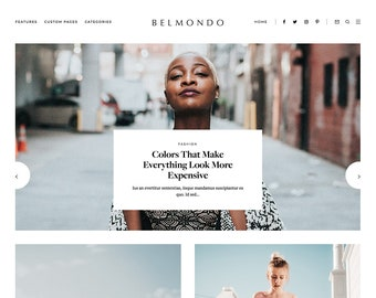 Belmondo | Premade Blogger Template - Responsive Blogger Theme - premade blog template, blogger design, blog design