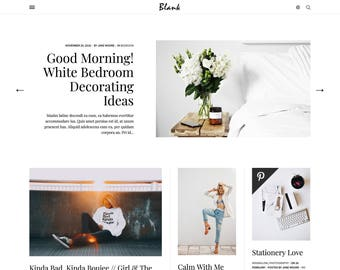 Blank - Responsive Blogger Template, Minimalist Blogger theme with Sticky Sidebar, Masonry Grid Blogger 3 Column Layout