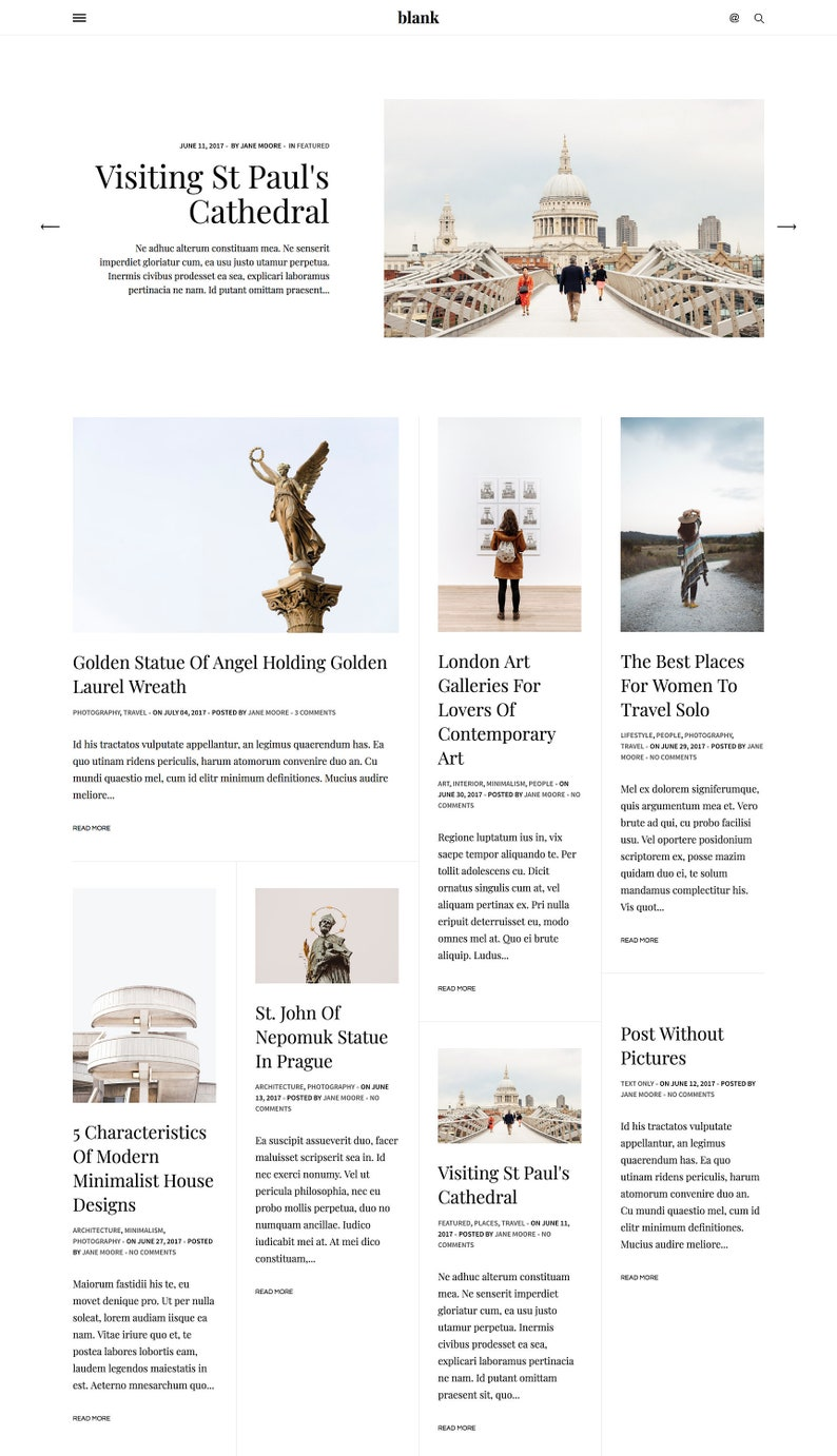 c8ec9e7c18835 Blank - Responsive Blogger Template, Minimalist Blogger theme with Sticky  Sidebar, Masonry Grid Blogger 3 Column Layout