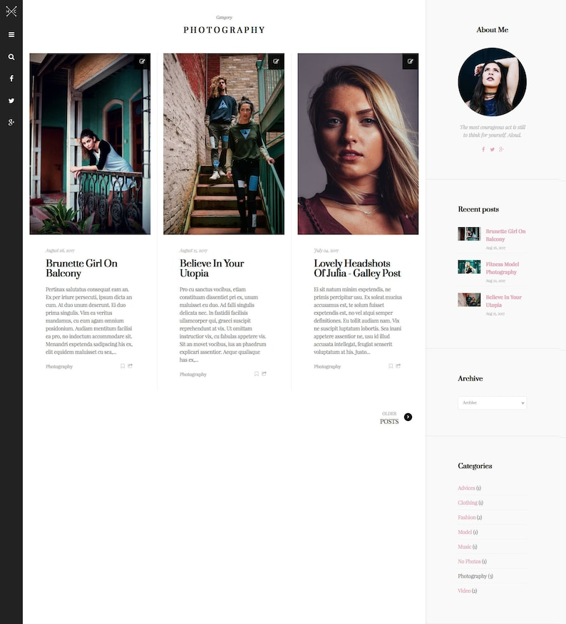 bcef9896112b5 Haute Couture -Responsive Blogger Template / Minimalist Theme / Fashion  Theme / Premade Design / Masonry Grid Layout
