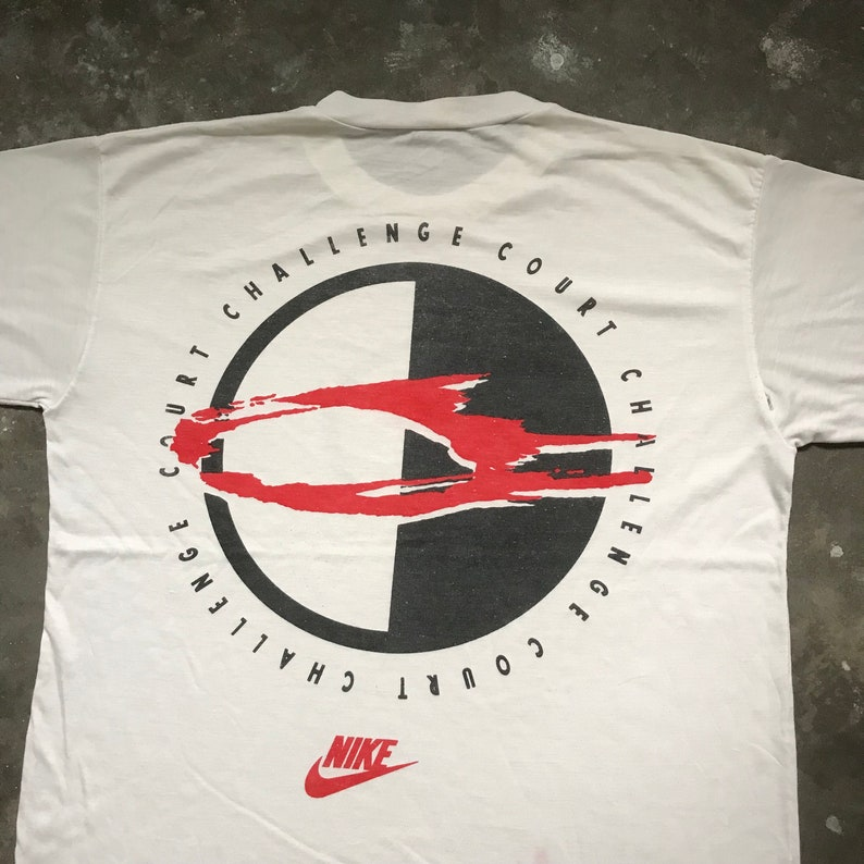 new arrival 19759 311e4 Vintage Rare NIKE CHALLENGE COURT Andre Agassi T-Shirt   Etsy