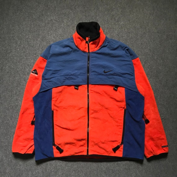 Vintage Rare! 90s NIKE ACG Colorblock Fleece Jacket