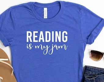 Reading Is My Jam Shirt Teacher Shirt Teacher Gift Grade School Teacher Kinder Teacher Shirt Unisex Jersey Short Sleeve Tee
