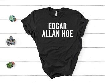 1e5119287c3 Edgar Allan Hoe Shirt Pastel Goth Shirt Goth Gift Poetry Shirt Poetry Gift  Poet Shirt Poet Gift Unisex Jersey Short Sleeve Tee