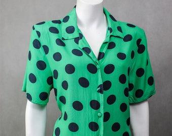 Polka Dot - Blouse Polka Dots - Polka Dot Blouse - Hipster Style - Polka Dot Pattern - Polka dot Shirt - Oversize - Looks Fit - Looks Slim