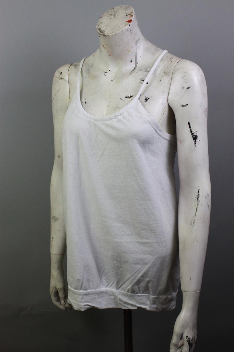 Retro Top Boho Top White Women/'s Top Crochet Shirt Vintage Top Sleeveless 80s Top Embroidered Blouse Folk Blouse