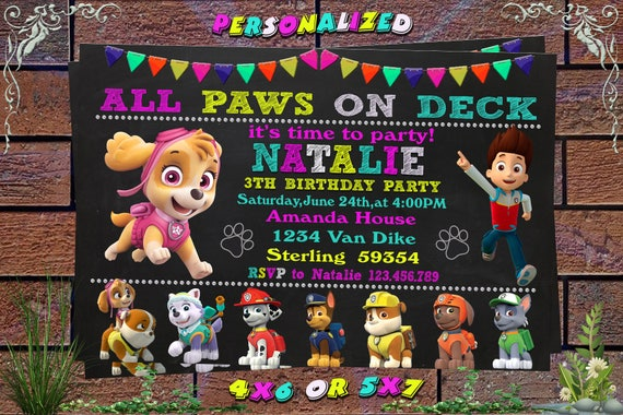 graphic about Paw Patrol Printable Invitations named Paw Patrol Invitation, Paw Patrol Birthday Invitation, Paw Patrol, Paw Patrol Printable, Paw Patrol Birthday Card, Paw Patrol Invitations