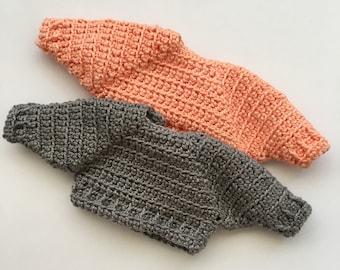 Crochet pattern sweater Spring for Franchesca the doll/Patrón de ganchillo jersey Primavera para la muñeca Franchesca