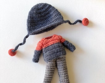 Crochet pattern Winter set of clothes for Francesca and Mia dolls