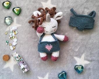 ENG Crochet pattern Kai, the baby unicorn