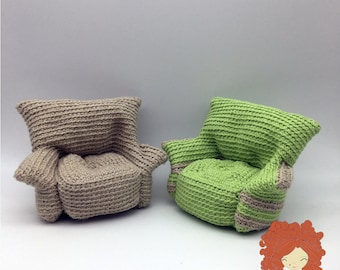 ENGLISH ONLY. Crochet pattern. Armchair for dolls.