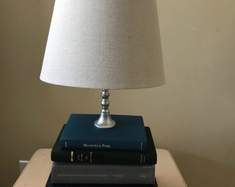 Jane Austen Book Lamp (silver base)