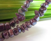 Ruby Strand with gemstone nuggets steamed with silver Model 2