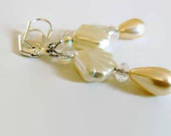 Pearl Earrings, Beach Earrings, Wedding Earrings, Shell Earrings, Boho Earrings, Nautical Earrings, Dangle Earrings, Gift For Her