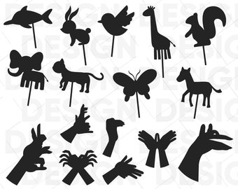 Silhouette puppets | Etsy