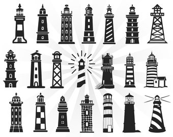 Lighthouse SVG Bundle, Lighthouse SVG, Lighthouse Clipart, Files For  Cricut, Vector, Light House Svg, Dxf, Design, Cut Files For Silhouette