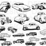 Classic station wagon svg, car svg, hatchback, limousine, clipart, decal, stencil, vinyl, cut file, image silhouette, eps, dxf, png, cricut